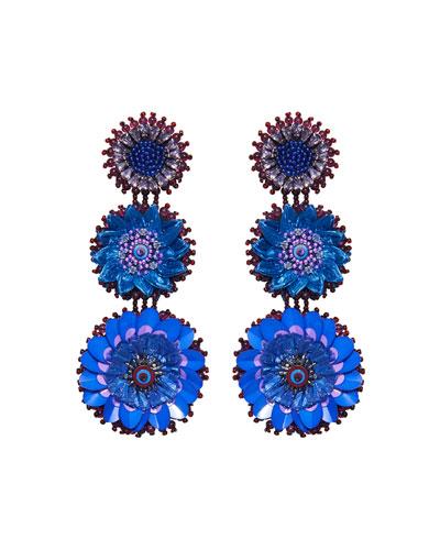 Molly Triple-Drop Circular Earrings