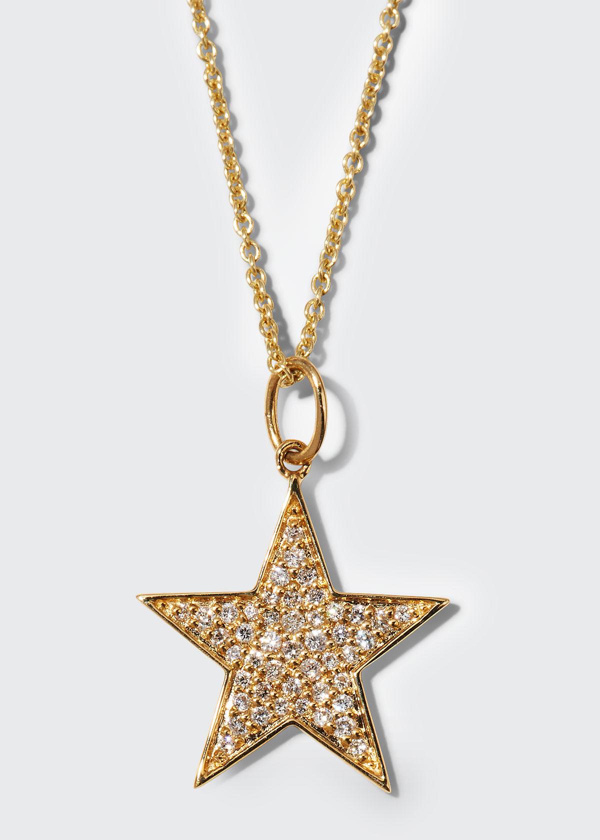 Sydney Evan Accessories 14K MEDIUM DIAMOND STAR CHARM NECKLACE
