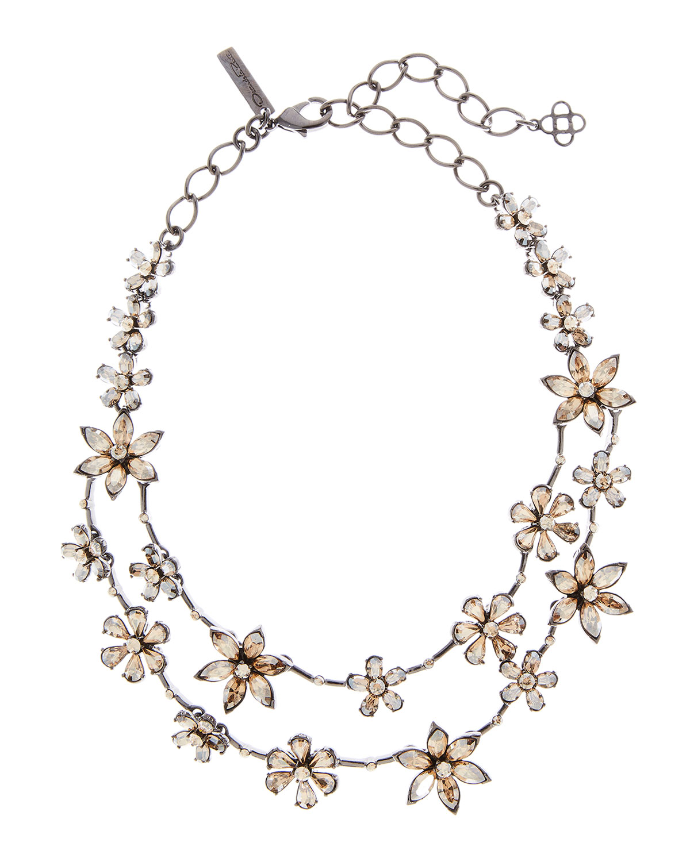 Oscar De La Renta Jewelry CRYSTAL STAR NECKLACE