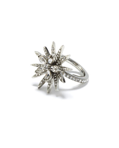 Runway Crystal Pave Point Ring