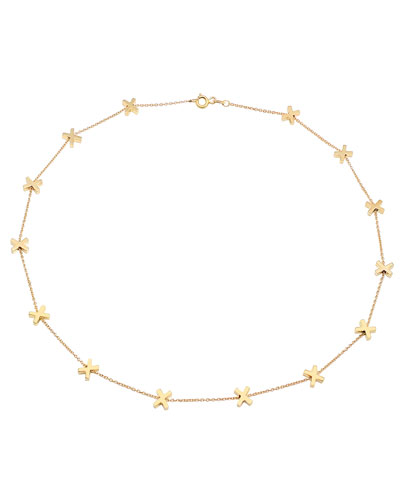 14k Gold X-Chain Necklace