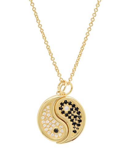 2-Piece 18k Diamond Yin-Yang Necklace Set