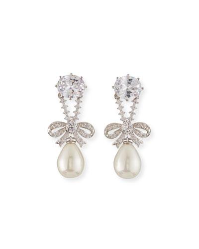 Knightsbridge Pearly-Drop Earrings