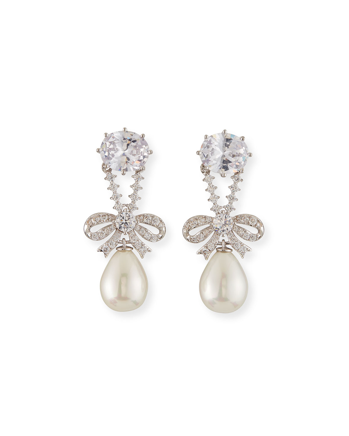 Fallon Accessories KNIGHTSBRIDGE PEARLY-DROP EARRINGS