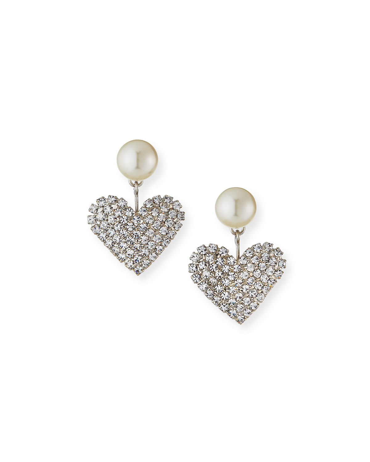 Jennifer Behr Accessories VALENTINE PEARLY & CRYSTAL HEART EARRINGS