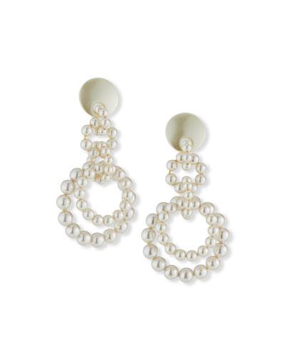 Pearly Loop-de-Loop Earrings