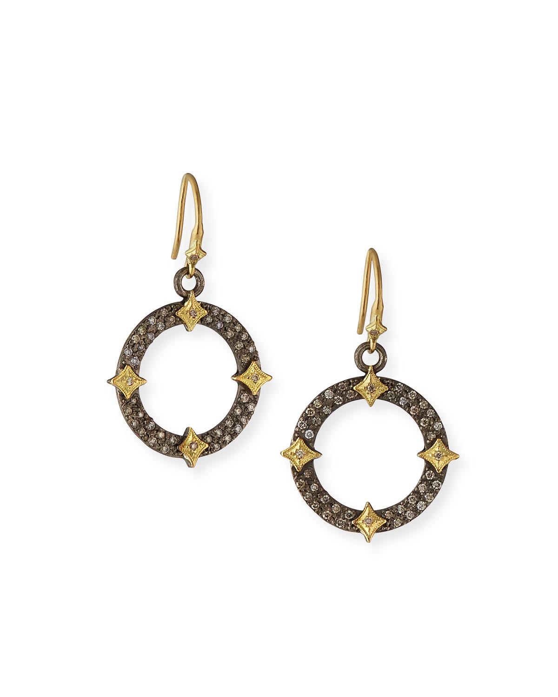 Armenta Accessories OLD WORLD DIAMOND OPEN DROP EARRINGS W/ CRIVELLI
