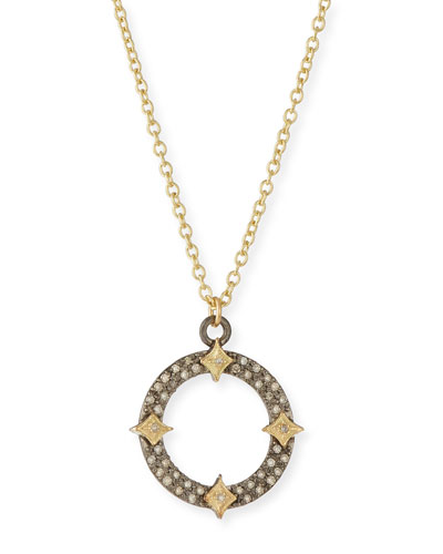 Old World Diamond Open Pendant Necklace w/ Crivelli