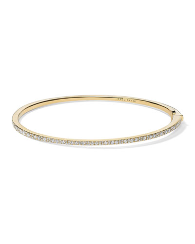 Stardust 18k Gold Diamond Hinged Bracelet