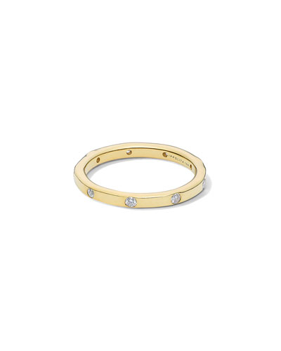 Stardust 18k All-Around Diamond Ring, Size 7