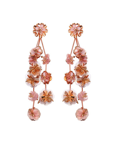 Britta Flower Dangle Earrings