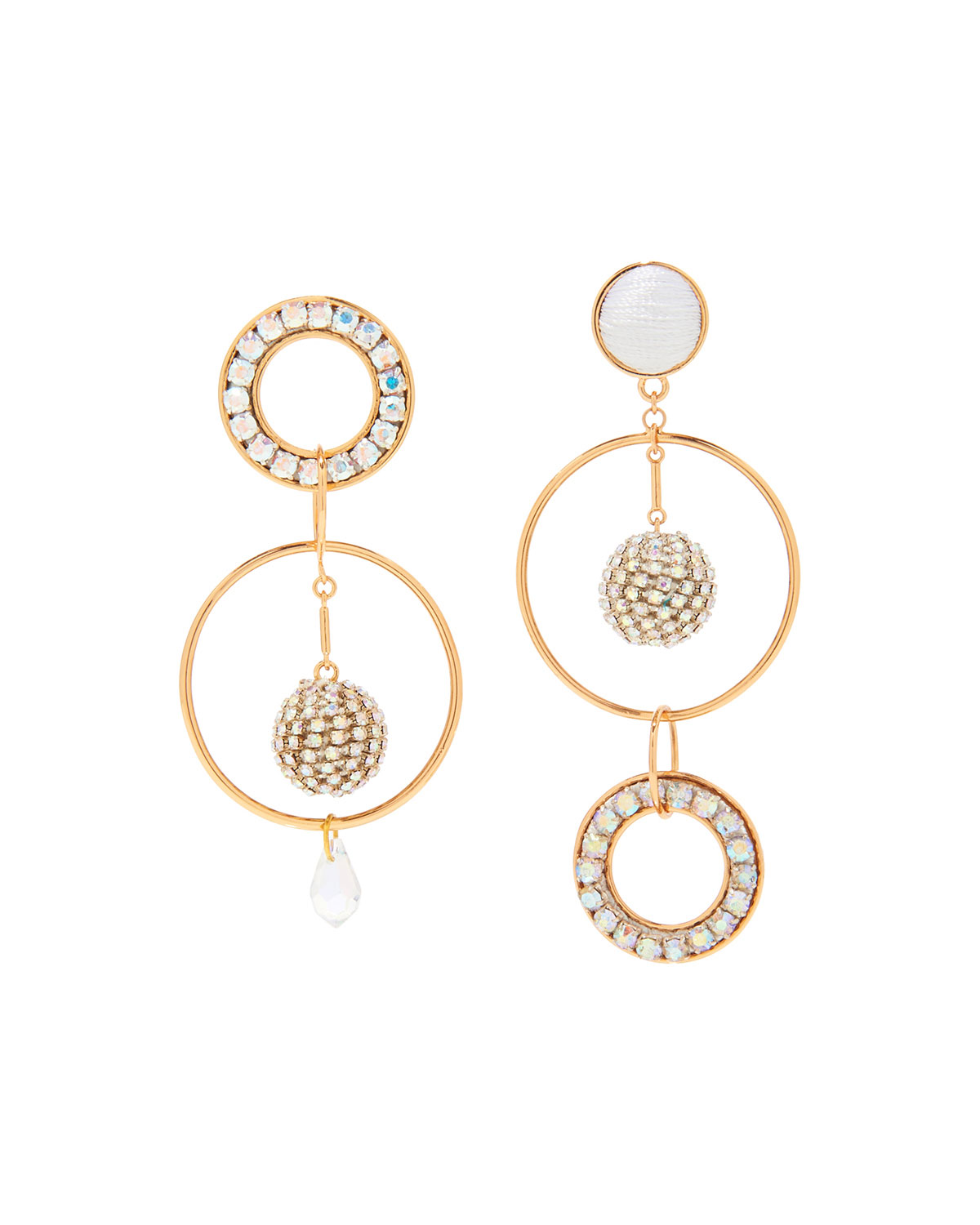 Mignonne Gavigan Accessories MIKA CRYSTAL MISMATCH EARRINGS
