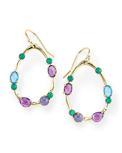 18K Rock Candy Medium Frame Earrings in Hologem