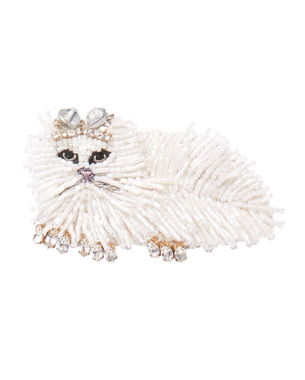 Mignonne Gavigan Accessories WHITE CAT BROOCH