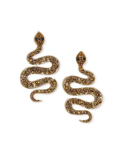 Snake Bead Post Earrings