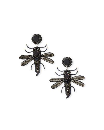 Bee Clip-On Dangle Earrings
