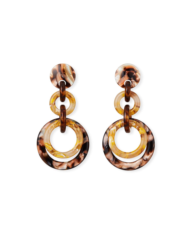 Lele Sadoughi Accessories LOOP-DE-LOOP ACETATE EARRINGS