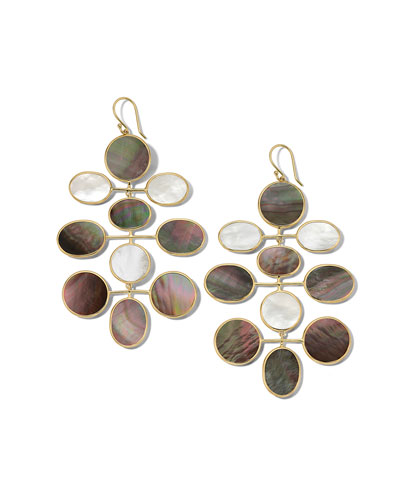 18K Polished Rock Candy Large Mobile Earrings