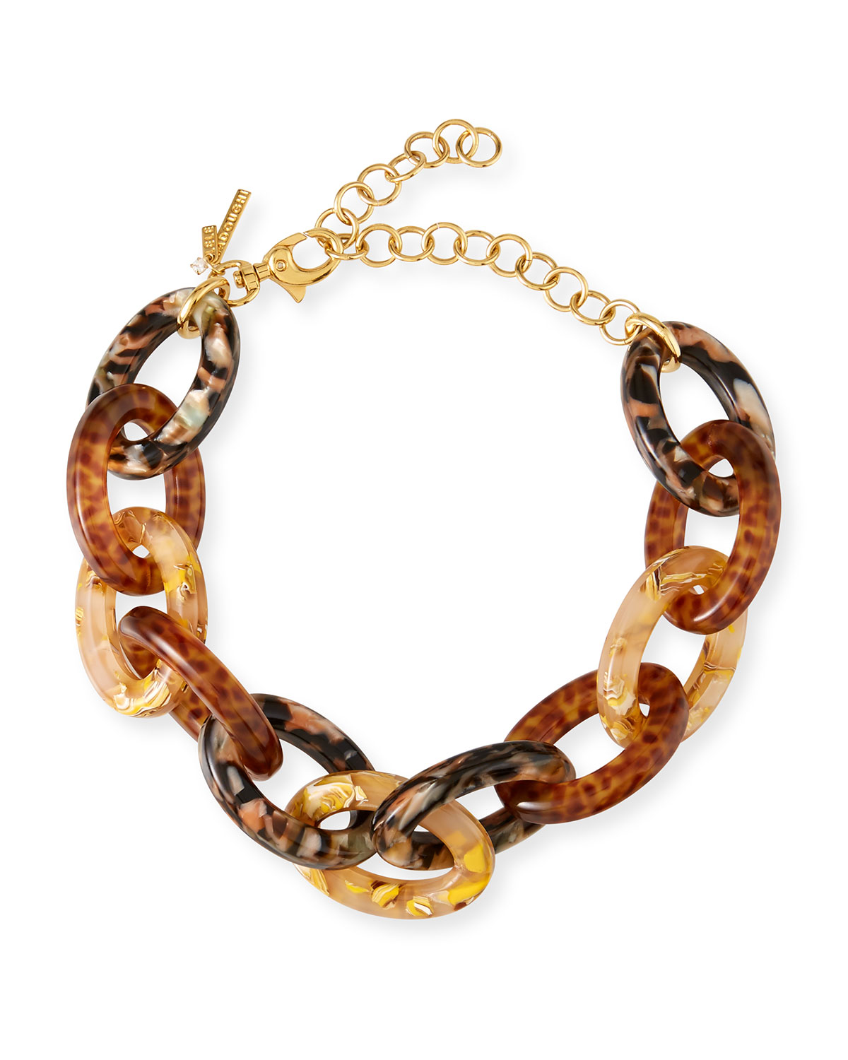 Lele Sadoughi Accessories ACETATE CABLE-LINK NECKLACE, BROWN