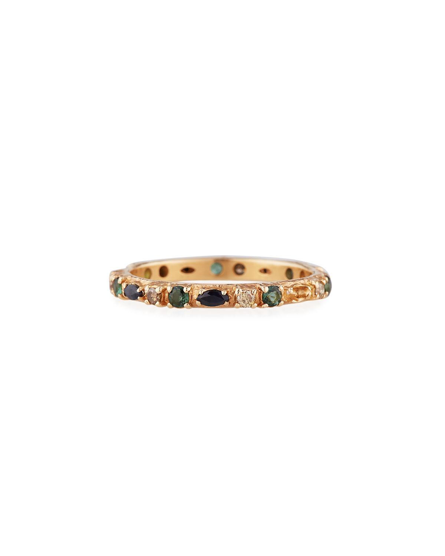 Armenta Accessories 18K ROSE GOLD SAPPHIRE, MARQUISE & DIAMOND RING
