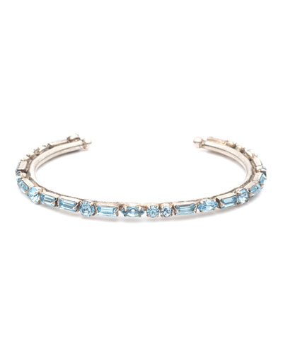 Cielo Crystal Cuff Bracelet, Blue