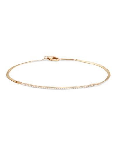 Flawless Curve Liquid 14k Diamond Bracelet