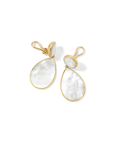 18k Polished Rock Candy Mother-of-Pearl Earrings