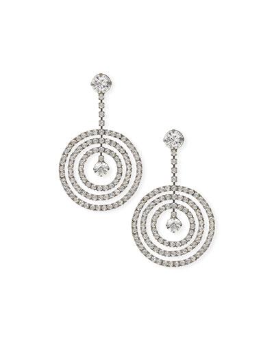 Large Crystal Drop Earrings