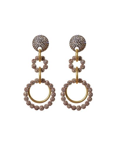 Crystal Loop-de-Loop Earrings