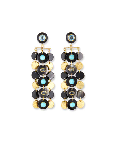 Pazia Disc-Dangle Earrings