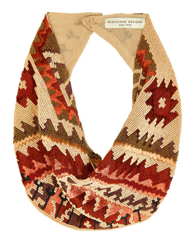 Kilim Le Charlot Beaded Scarf Necklace