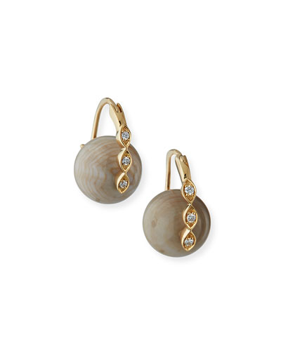 14 Marquise Evil Eye Bead Earrings