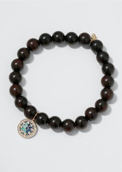 14k Diamond Kaleidoscope & Ebony Bracelet