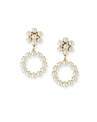 Soraya Pearly Hoop-Drop Earrings
