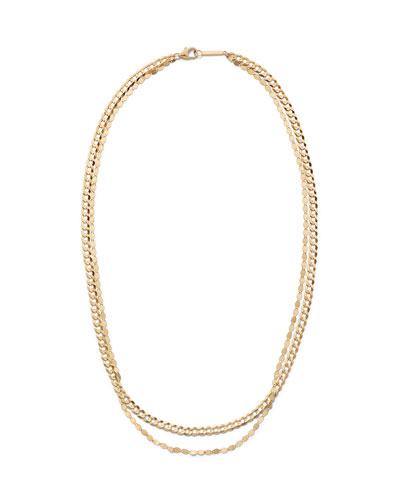 14k Double-Strand Casino Chain Necklace