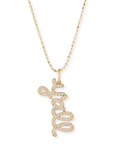 14k Diamond Y'all Pendant Necklace