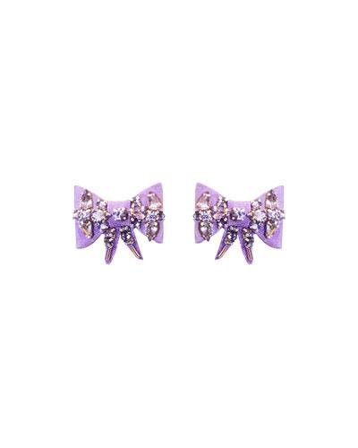 Lexy Velvet Bow Stud Earrings
