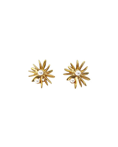 Classic Pearly Starburst Post Earrings