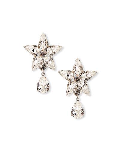 Celina Crystal Star-Post Drop Earrings