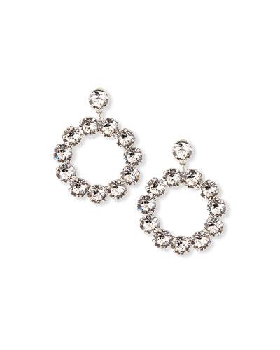 Maddon Crystal Hoop-Drop Earrings