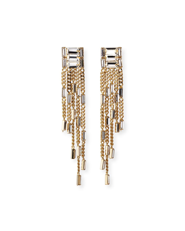 Rosantica Jewelry OSIRIDE DANGLE FRINGE EARRINGS