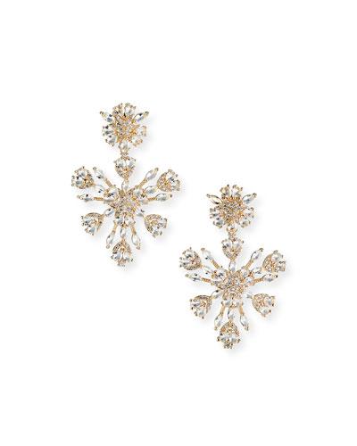 Snowflake Crystal Chandelier Earrings