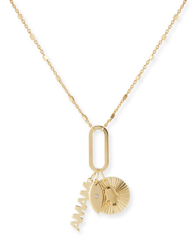 Nelly 3-Charm Necklace