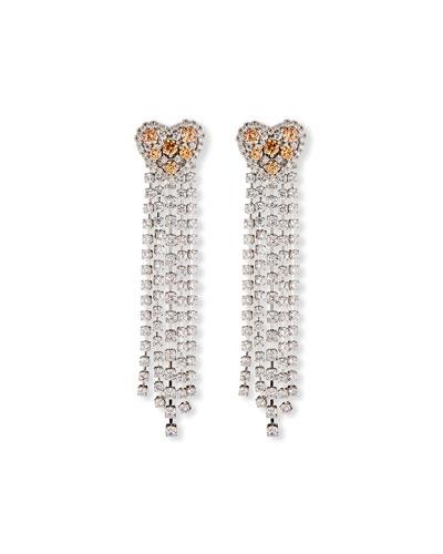 Heart Waterfall Chandelier Earrings