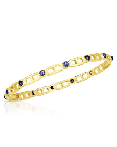 Cheval 18k Sapphire Bangle Bracelet, Large