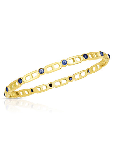 Cheval 18k Sapphire Bangle Bracelet, Small