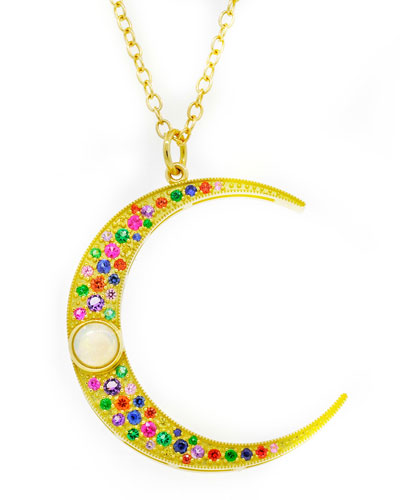 18k Large Luna Mixed Necklace