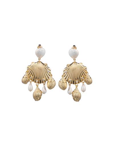 Lauren Sea Shell Clip-On Earrings