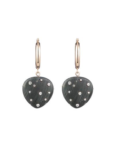 Huggie Resin Drop Earrings