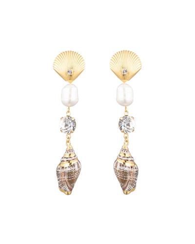 Marin Linear Shell Earrings